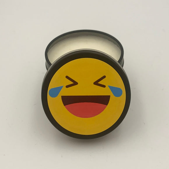 Emoji candle cry laughing with tears black matte candle scented