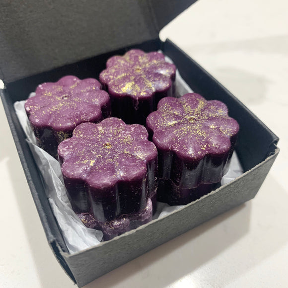 Wax Melts Shapes Pack of 8 Flower Shape Wax Melts MERLOT & MIDNIGHT LOTUS