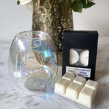Pearl clear melt burner tea light candles with clam shell melts