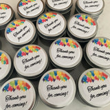 Personalised Party Favour Candle Multi Balloons