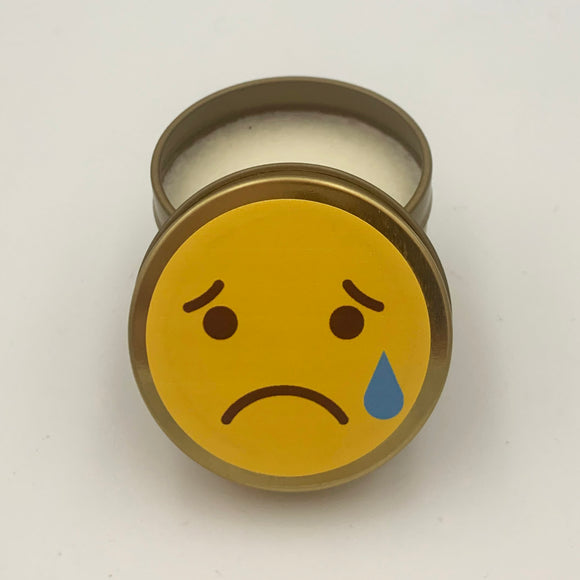 Sad Emoji Candle Travel Tin scented candle