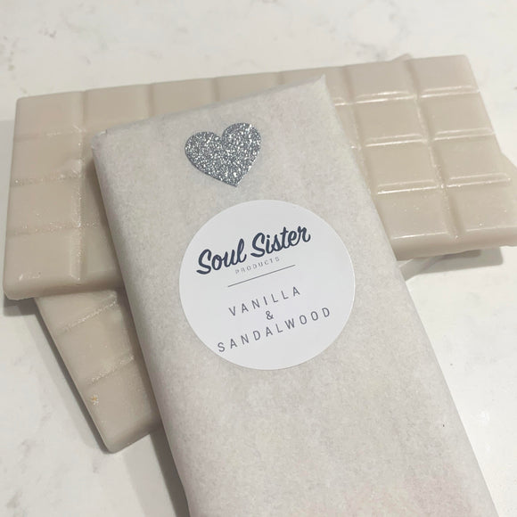 Wax Melts Snap Bar VANILLA & SANDALWOOD