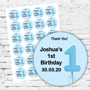 Personalised DIY Stickers - Boys 1st Birthday
