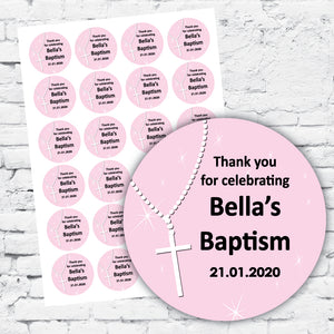 Personalised DIY Stickers - Rosary Pink design