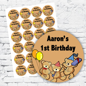 Personalised DIY Stickers - Teddy Bear Theme
