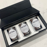 The Vanilla Collection | Pure Soy Wax Silver Candle Set