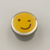 Winking Emoji Candle Travel Tin scented candle