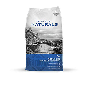 Diamond Naturals Dry Food for Adult Dog, Beef and Rice Formula, 40 Pound Bag (074198608331) - Petizon