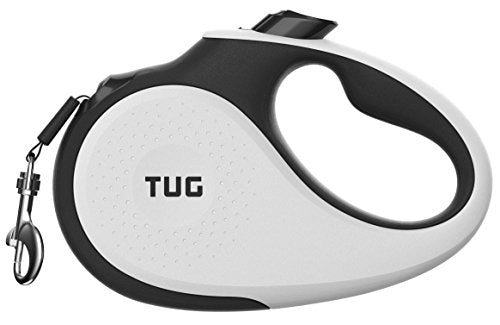 TUG Patented 360° Tangle-Free, Heavy Duty Retractable Dog Leash for Up to 110 lb Dogs; 16 ft Strong Nylon One-Handed Brake,Lock … - Petizon