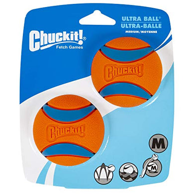 ChuckIt! Ultra Ball, Medium (2.5 Inch) 2 Pack - Petizon