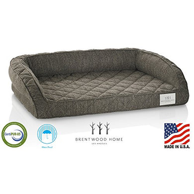 Brentwood Home Deluxe Gel Memory Foam Orthopedic Pet Bed, 100% Made in USA, Waterproof, Medium - Petizon