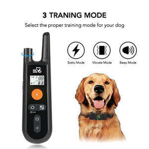 Rechargeable Dog Training-Bark Collar Beep, Vibration and Shock, 100% Waterproof , Up to 1000Ft Remote Range, Set - Petizon