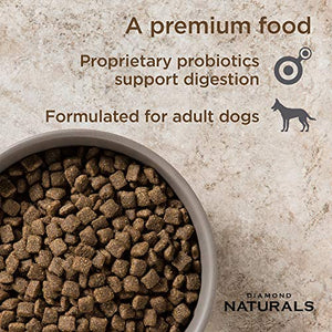 Diamond Naturals Adult Real Meat Recipe Premium Dry Dog Food With Real Pasture Raised Lamb Protein 40Lb - Petizon