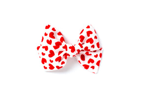Red Hearts - Hand Tied Bow