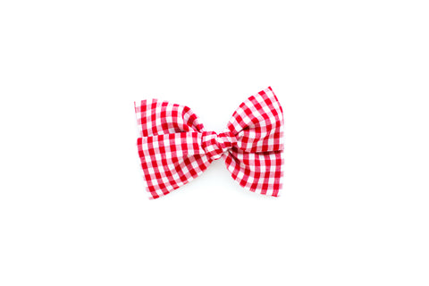 Red Gingham - Hand Tied Bow