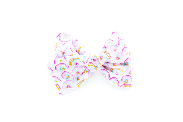 Watercolor Rainbows - Hand Tied Bow