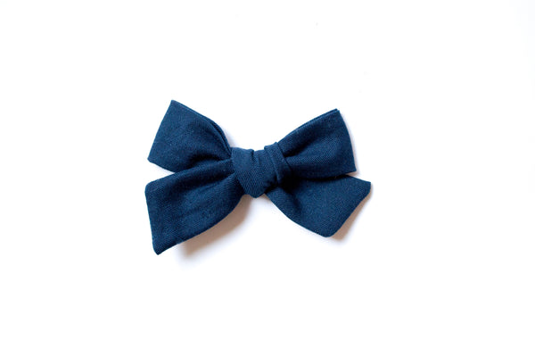 Navy - Hand Tied Bow