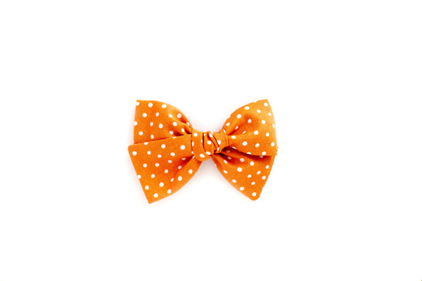 Orange Dot - Hand Tied Bow