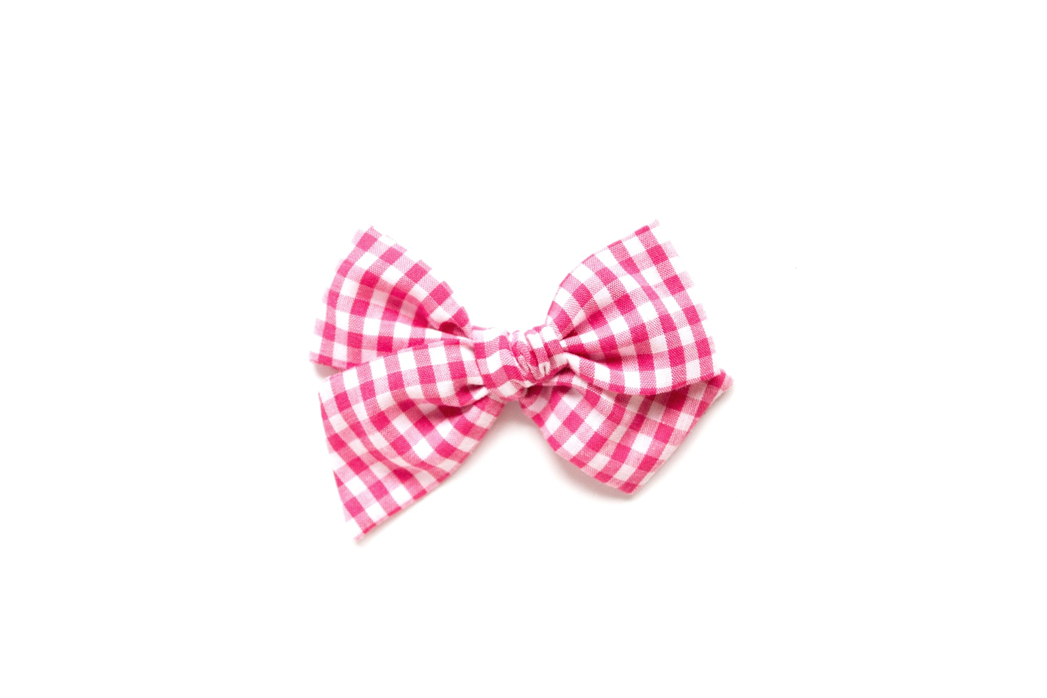 Hot Pink Gingham - Hand Tied Bow