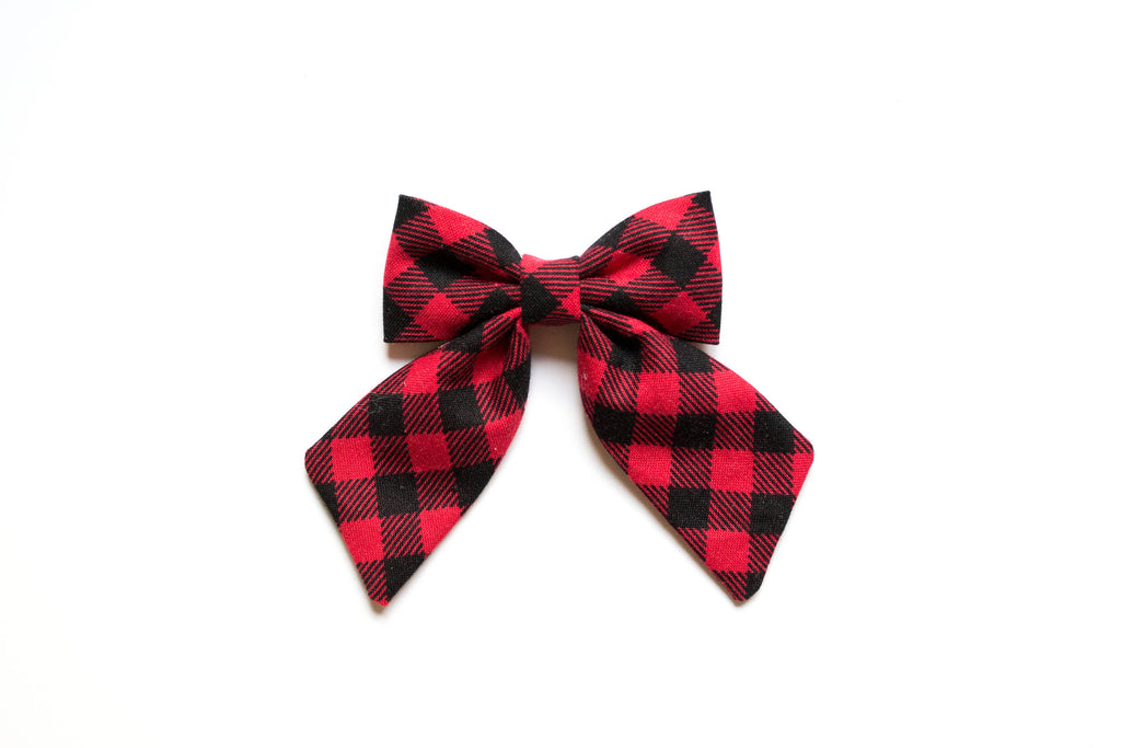 Buffalo Plaid - Sailor Bow