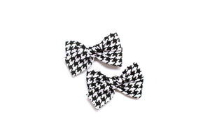 Houndstooth - Pigtail Bows