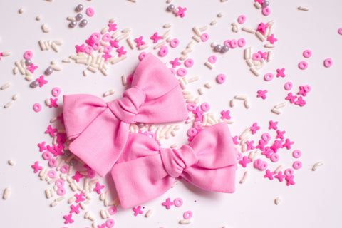 Pink - Pigtail Bow Set