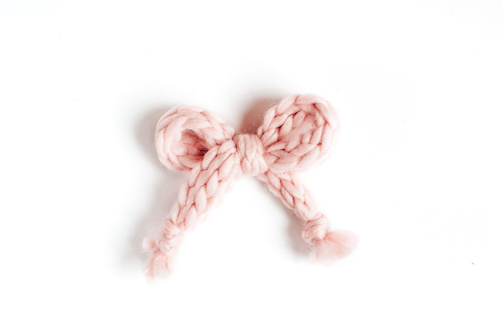 Blush - Knit Bow