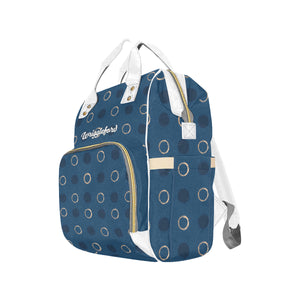 Autumn Blue Night Multi-functional Diaper Bag