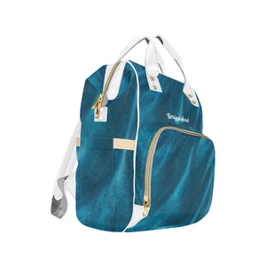Glittering Blue Multi-Function Diaper  Backpack