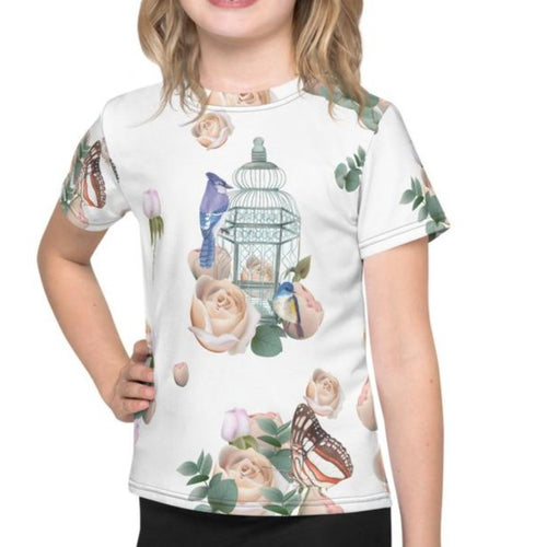 Bird Cage Roses Kids Shirt