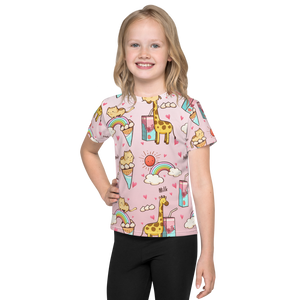 Kitten Rainbows and Giraffe Toddler T-Shirt