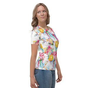 Watercolor Drip Roses Mommy and Me Women's T-shirt