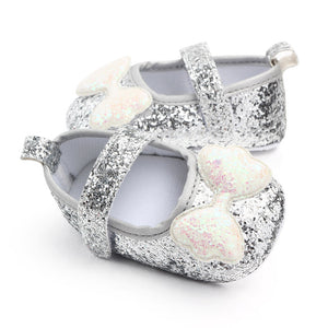Soft-soled Glitter Bow-knot Princess Shoes