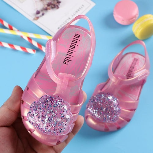 SeaShell Glitter Jelly Shoes