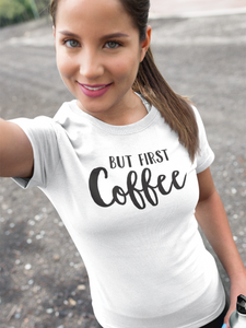But First Coffee Mommy and Me Women's T-Shirt