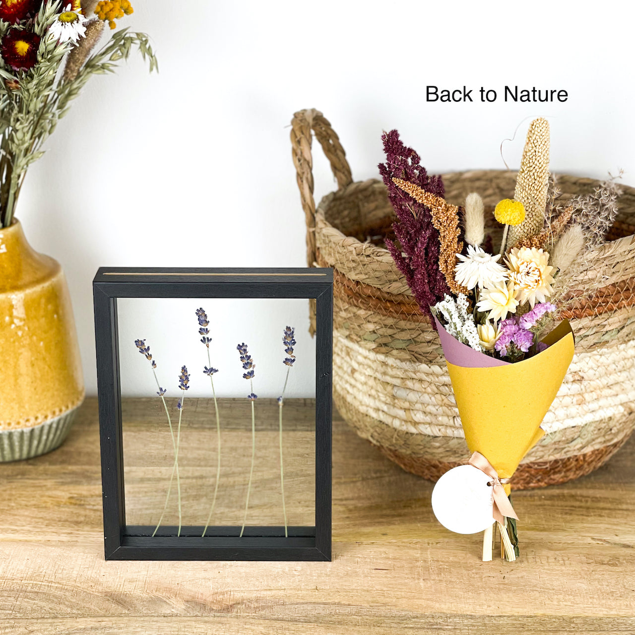 Gift-Set Lavender Frame Black & Bouquet - 8 variants