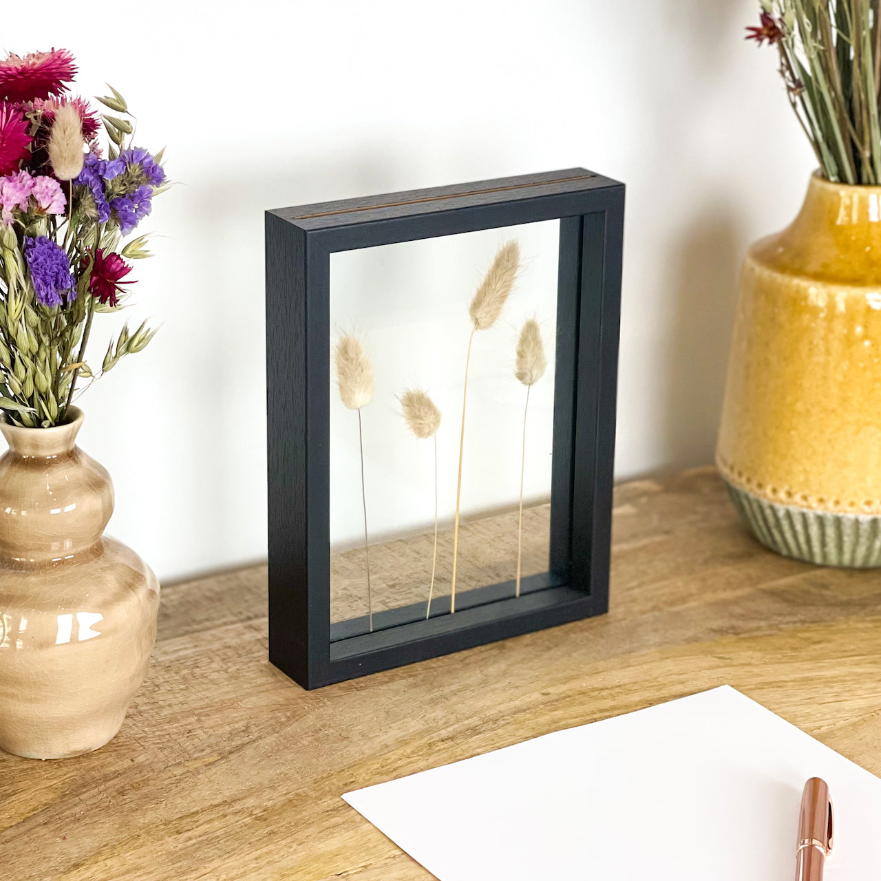 Bunny Tail Flower Frame Small - Pressed flowers