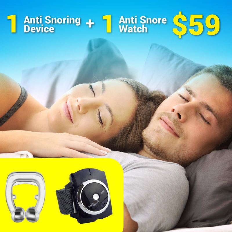 MAGNETIC ANTI-SNORE SYSTEM - SLEEP PEACEFULLY & SOUNDLESSLY!