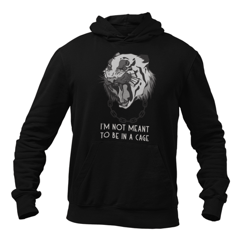 Hoodie végan <br> I'm Not Meant To Be In A Cage