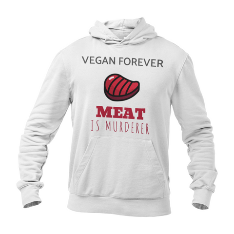 Hoodie végan <br> Meat Is Murderer