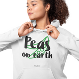 Hoodie végan <br> Peas On Earth