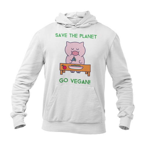 Hoodie végan <br> Save The Planet Go Vegan !
