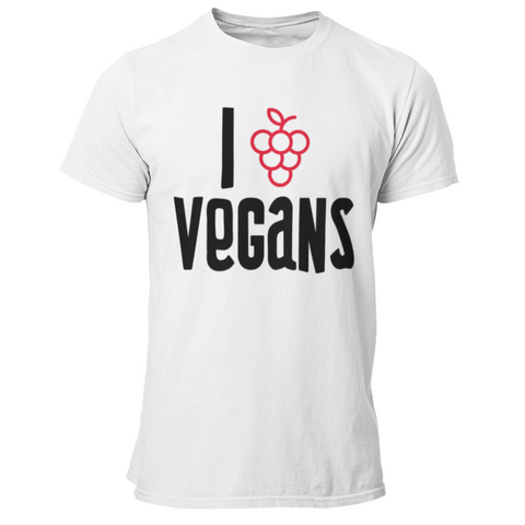 T-Shirt végan <br> I Love Vegans