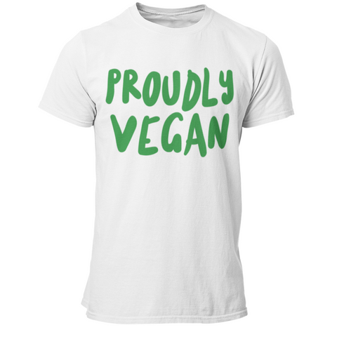 Vegan T-Shirt <br> Proudly Vegan