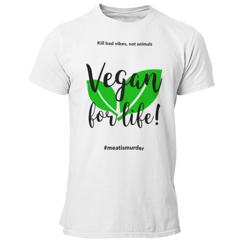 Vegan T-Shirt <br> Vegan For Life !