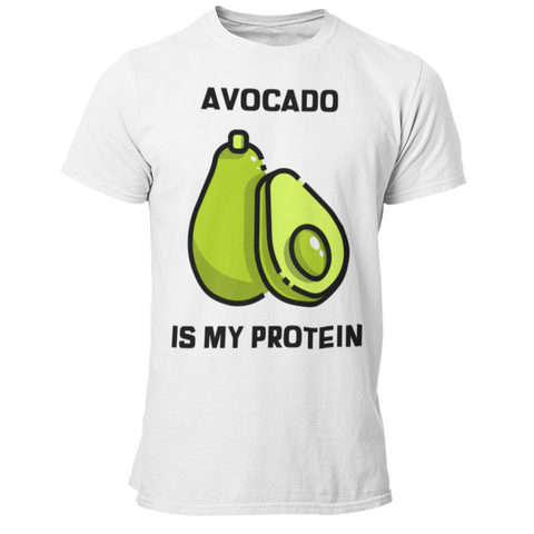 T-Shirt végan <br> Avocado Is My Protein