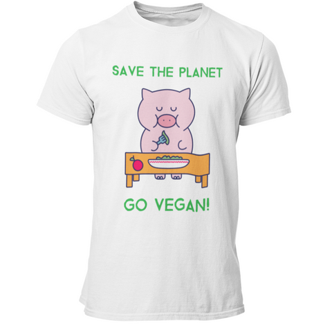 T-Shirt végan <br> Save The Planet Go Vegan !