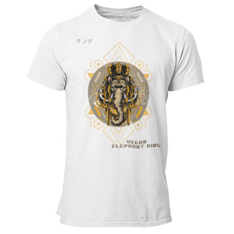 T-Shirt végan <br> Vegan Elephant King