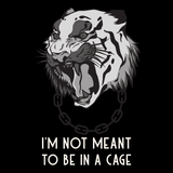 Sweat végan <br> I'm Not Meant To Be In Cage