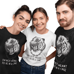 T-Shirt végan <br> I'm Not Meant To Be In Cage
